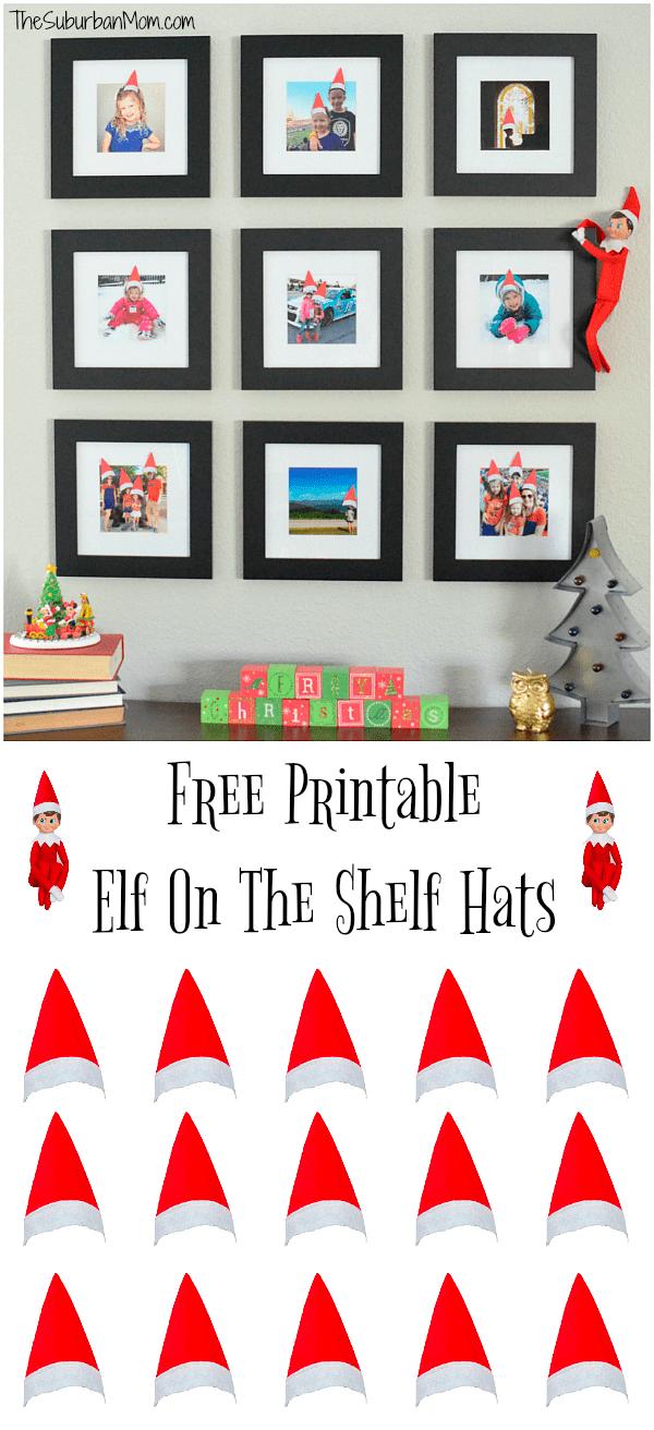 Printable Elf On The Shelf Hats For Family Photos The Suburban Mom