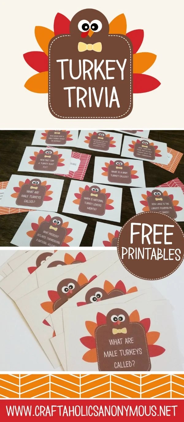 Turkey Trivia Cards