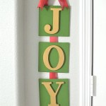 Joy Christmas Sign Craft Tutorial