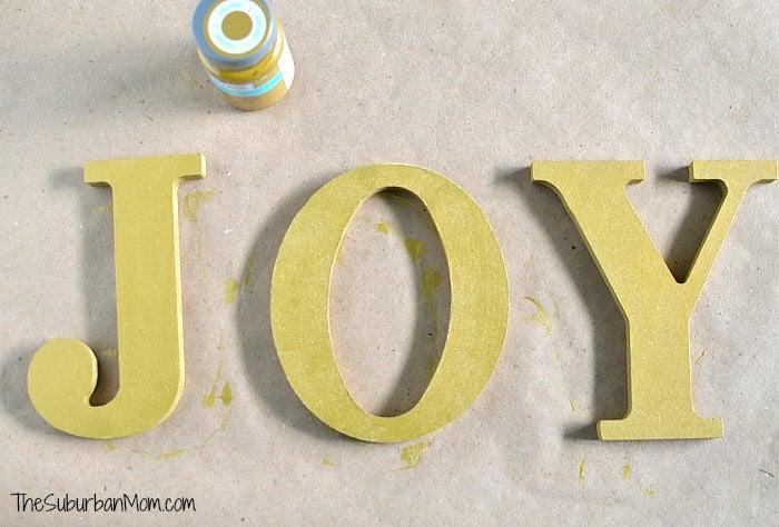 Joy Gold Letters