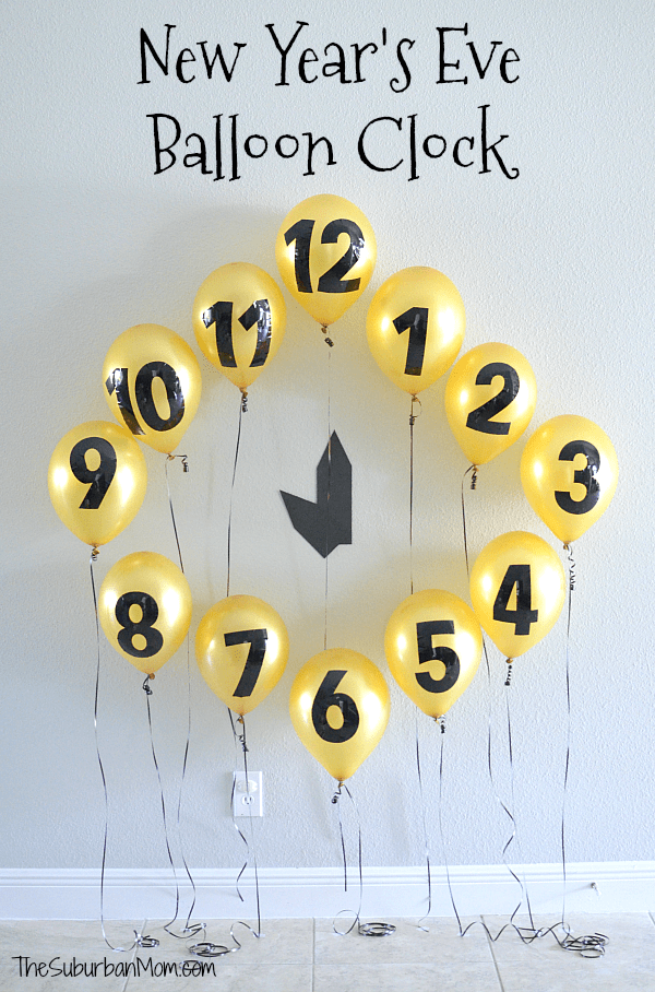 New Year's Eve Balloon Clock