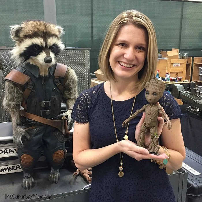 Guardians of the Galaxy Rocket Baby Groot Backstage