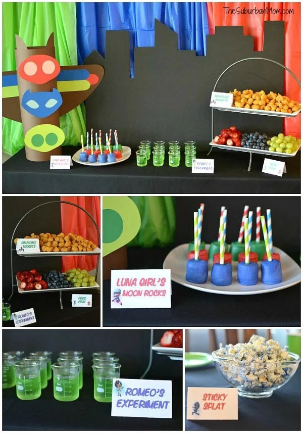 pj masks birthday party ideas and free