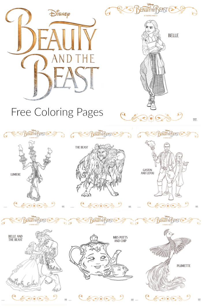 Free Beauty And The Beast Coloring Pages - The Suburban MomBeauty And The Beast Coloring Page Beast