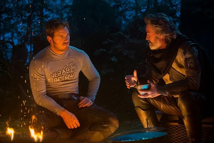 Chris Pratt Kurt Russell Guardians of the Galaxy