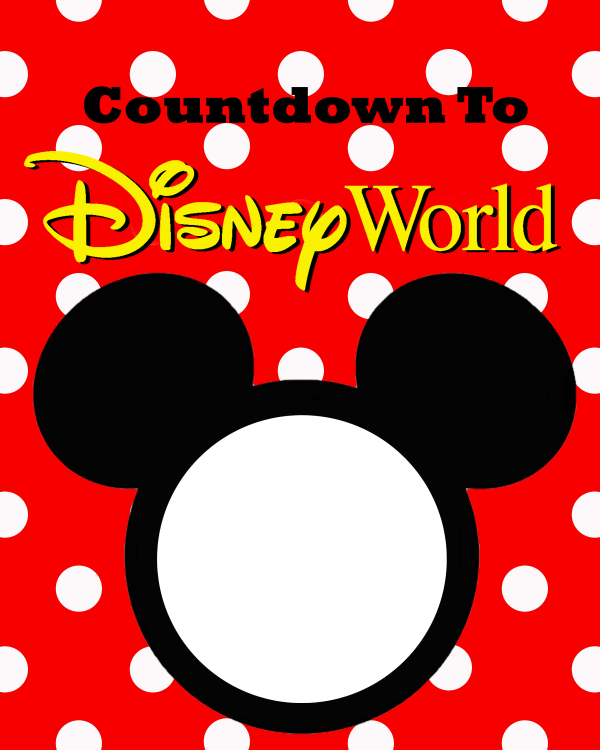 image regarding Disney Countdown Calendar Printable named Absolutely free Countdown towards Disneyland Printable - The Suburban Mother