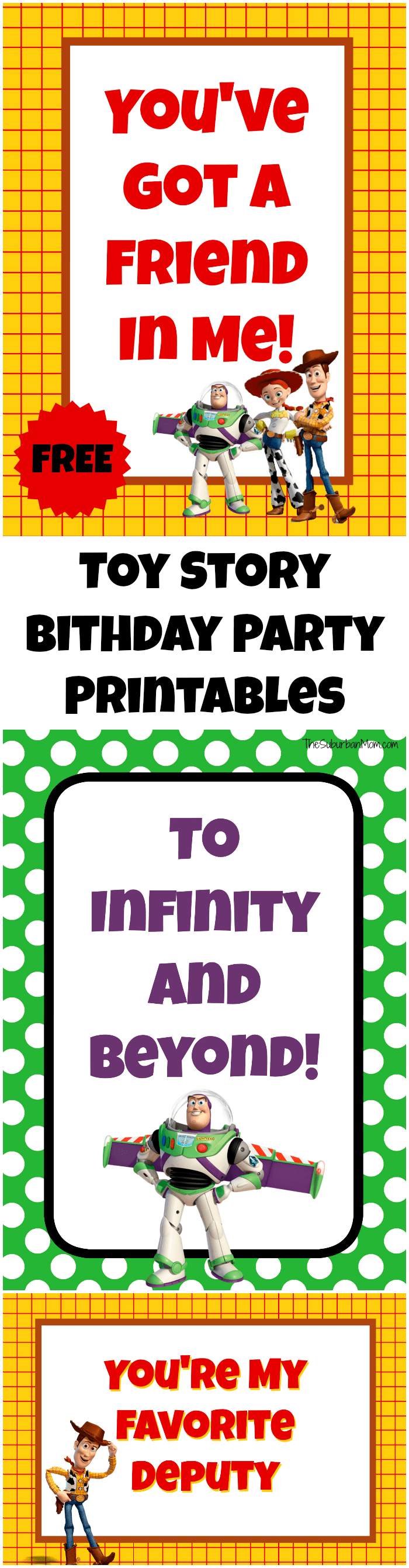 Free Toy Story Party Printables