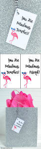 Flamingo Fabulous Teacher Gift Tag
