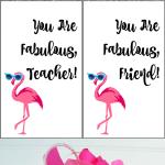 Flamingo Fabulous Teacher Gift Tag