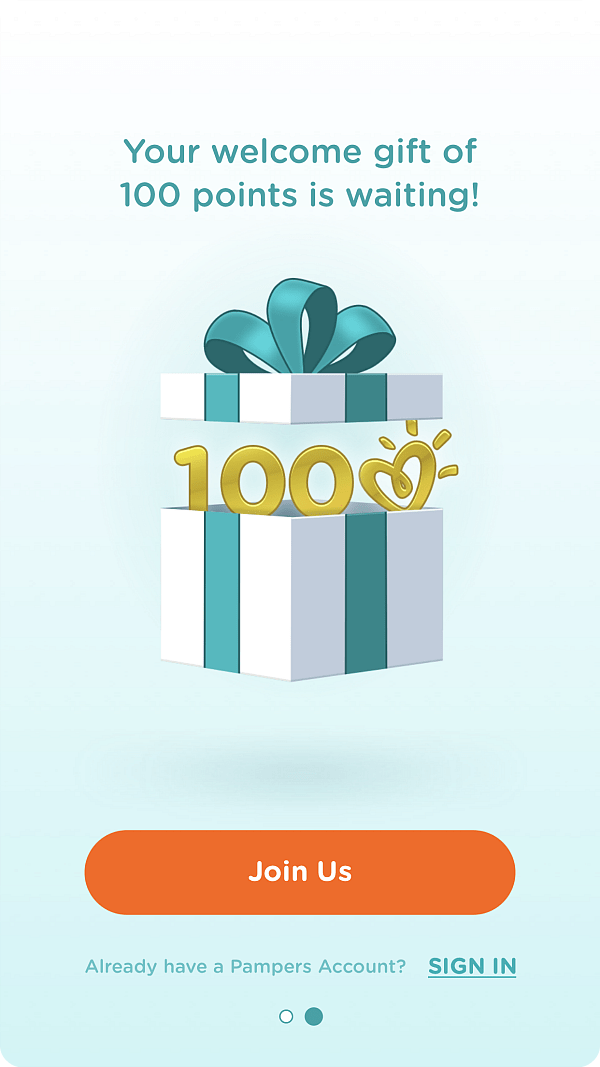 Pampers Rewards 100 Free Points
