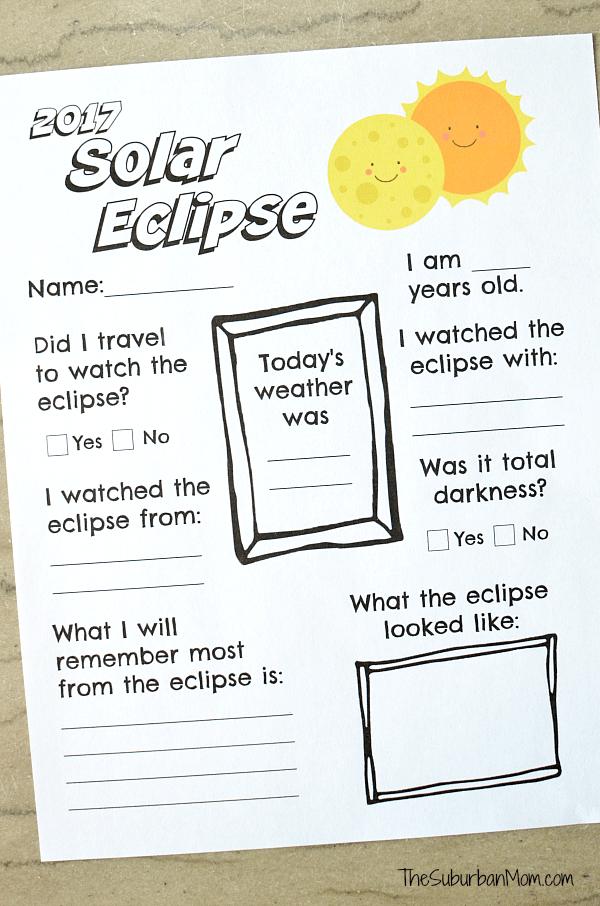 2017 Solar Eclipse Printable