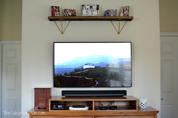 After Mounting TV with Legrand