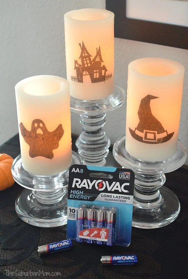 DIY Battery Operated Halloween Candles