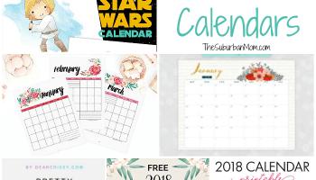 19 Free Printable 2019 Calendars - The Suburban Mom