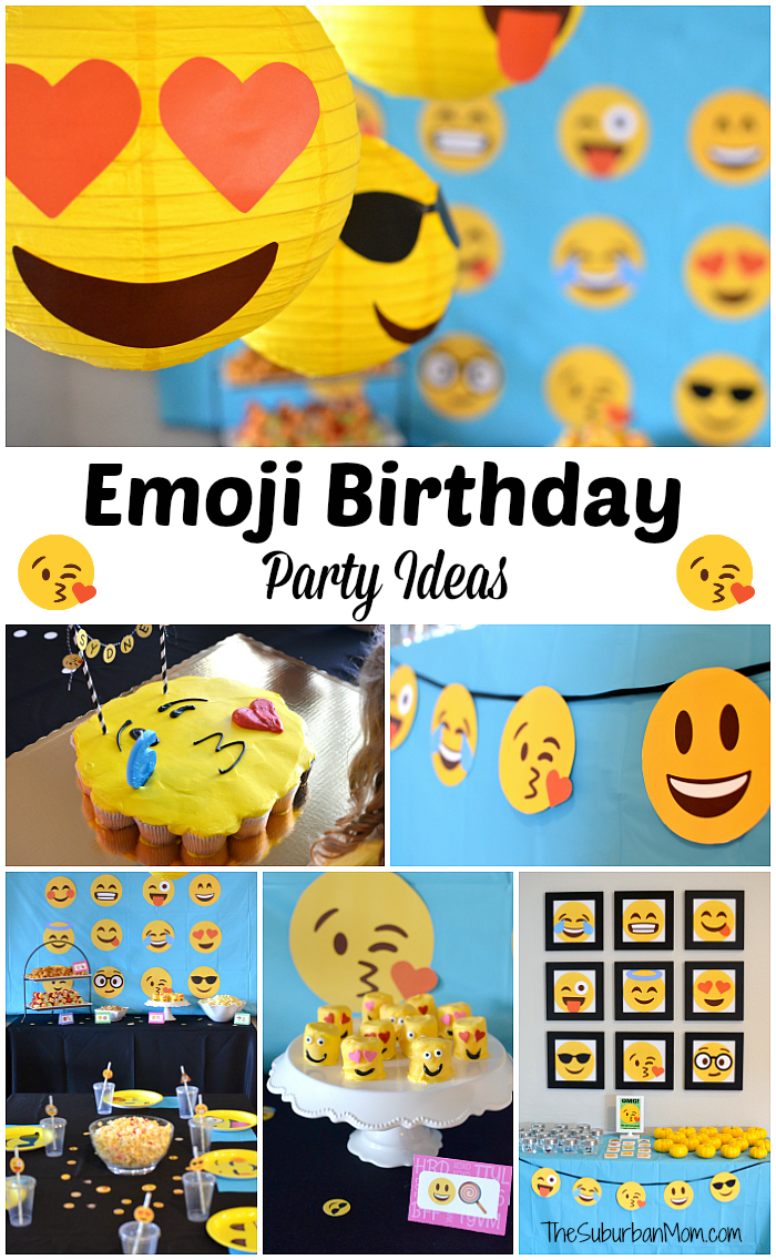 Emoji Birthday Party Ideas Free Printables Decorations Food And More