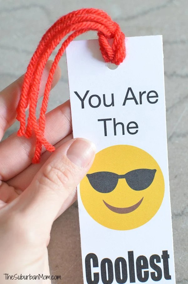 Printable Emoji Bookmark
