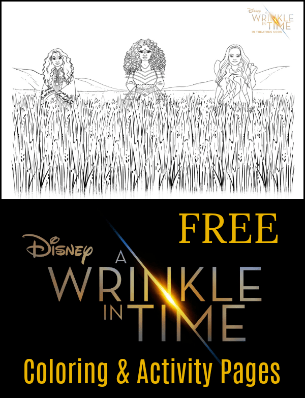 Disney A Wrinkle In Time Coloring Pages