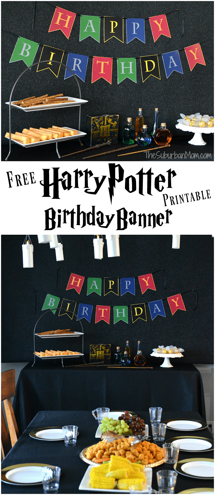Harry Potter Birthday Banner Free Printable
