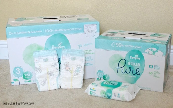 Pampers Aqua Pure Wipes Diapers