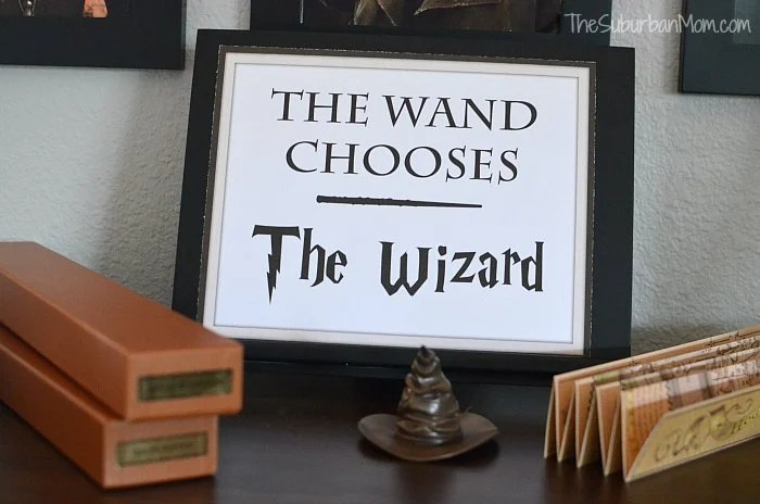 The Wand Chooses The Wizard Printable Sign