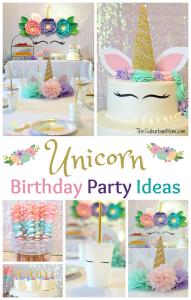 Unicorn Birthday Party Ideas - Food, Decorations, More