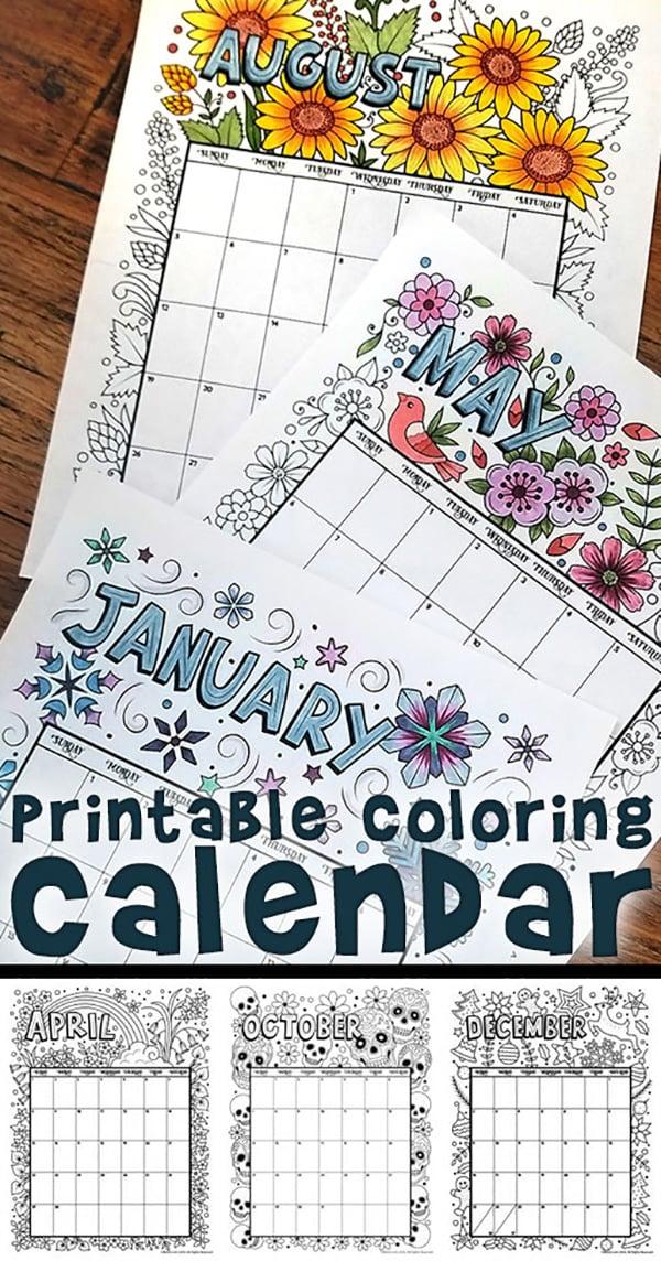 Calendar Pages To Print 2019.19 Free Printable 2019 Calendars The Suburban Mom