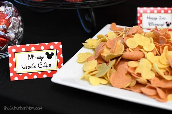 Minnie Mouse Food Signs