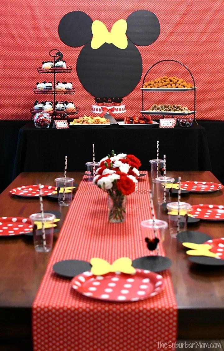 Minnie Mouse Birthday Party Ideas , The Suburban Mom