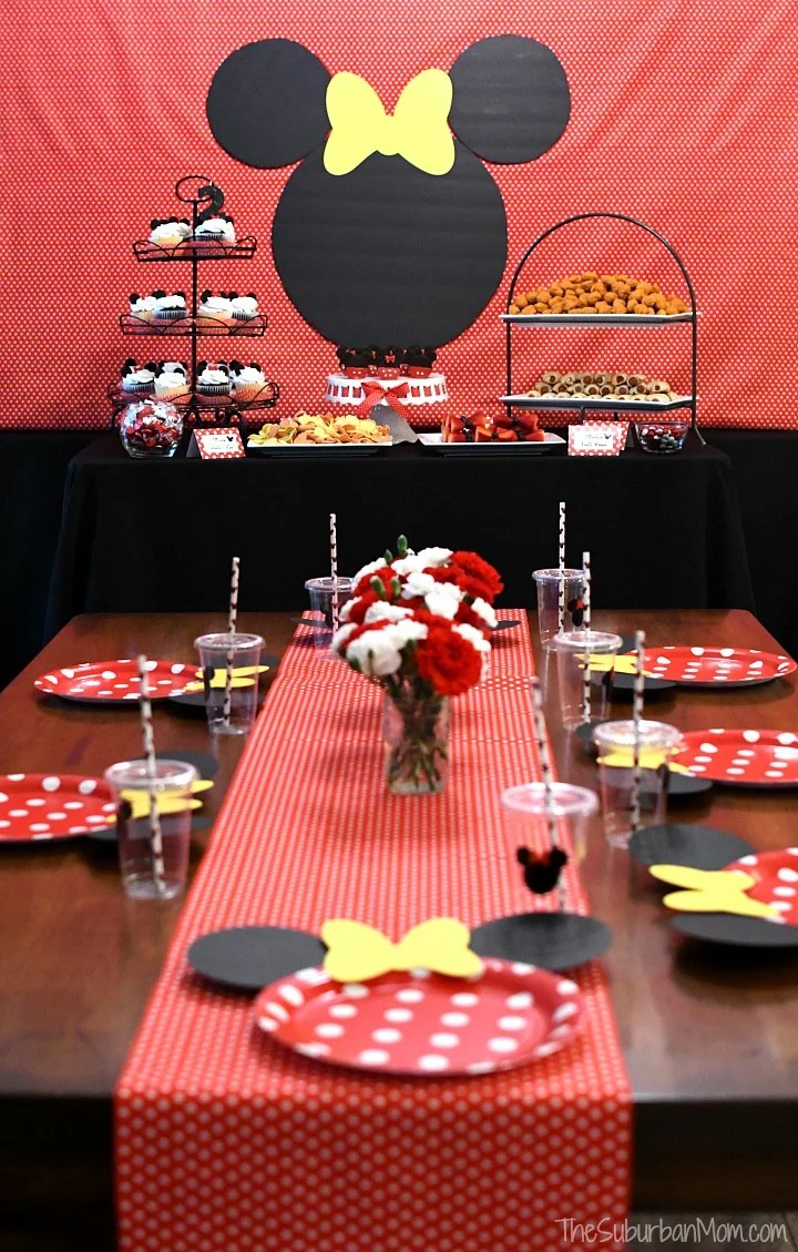 3d038708c760 Minnie Mouse Birthday Party Ideas - The Suburban Mom