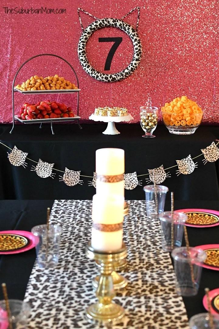 Cheetah Glam Birthday Party