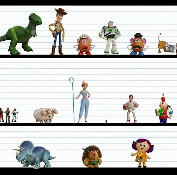 Toy Story 4 Character Line Up