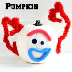 No Carve Toy Story 4 Forky Pumpkin