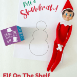 Elf On The Shelf Roll A Snowman Activity Page