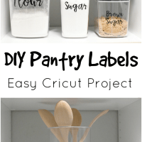 DIY Pantry Labels - An Easy Cricut Project