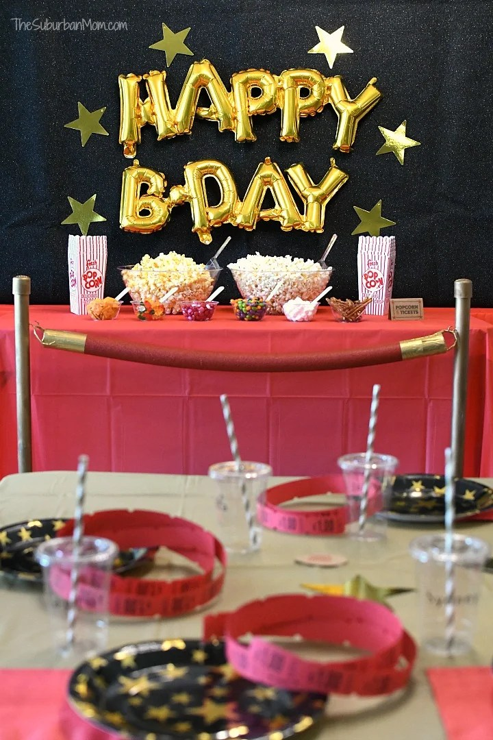 Movie Birthday Party Ideas