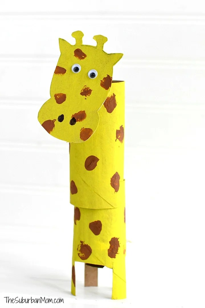 Giraffe Toilet Paper Roll Craft