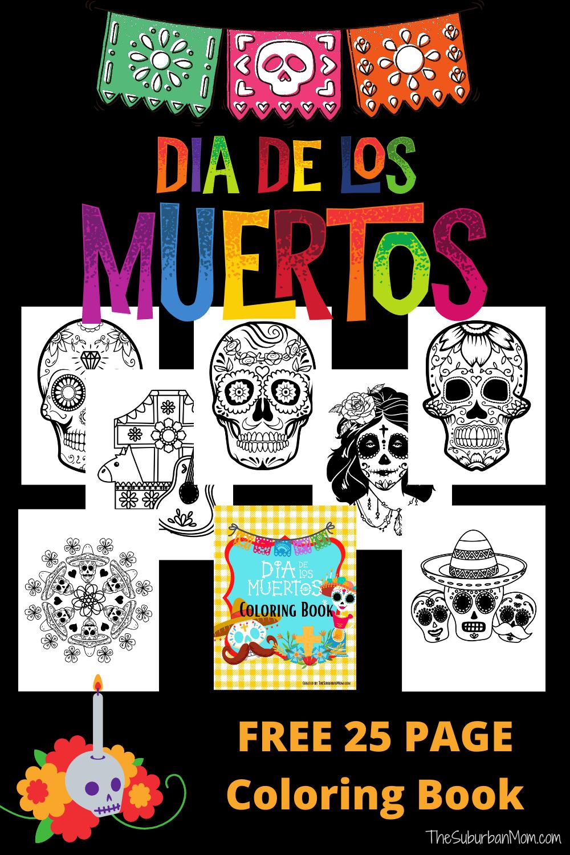 Día De Los Muertos Coloring Pages Free Printable - Day Of The Dead