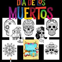 Día de los Muertos / Day Of The Dead Coloring Pages Free Printable
