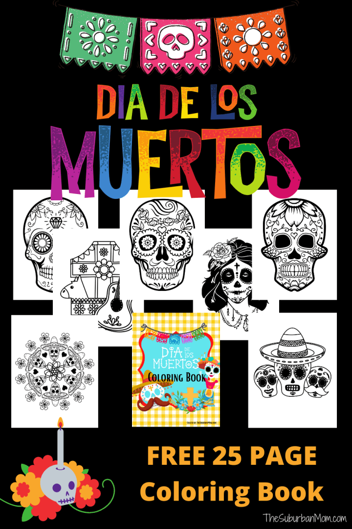 Dia De Los Muertos Coloring Pages Free