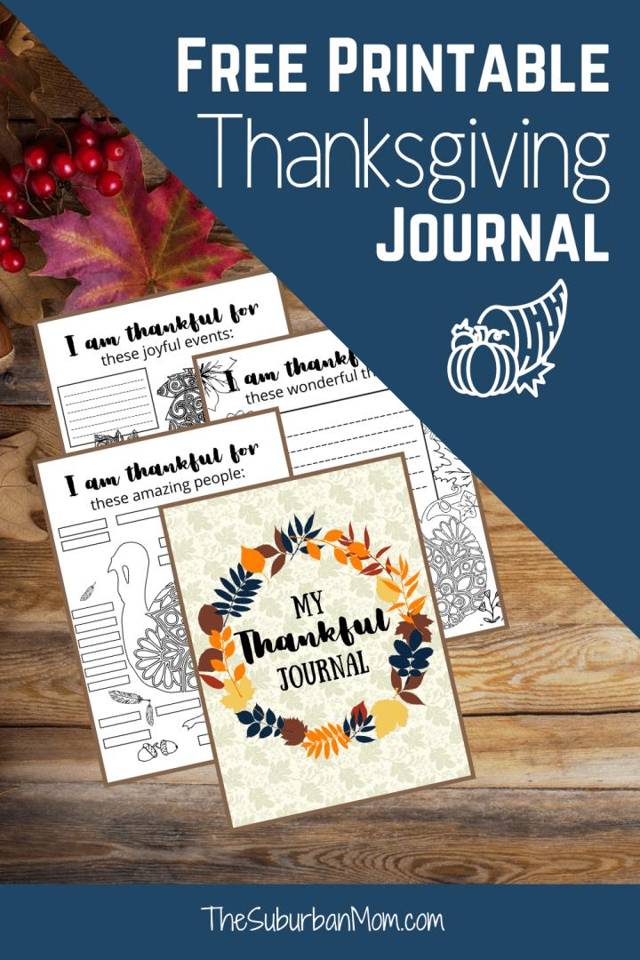 Thanksgiving Thankful Journal For Kids