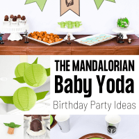 The Mandalorian Baby Yoda Birthday Party Ideas - Decorations, Free Printables, Food