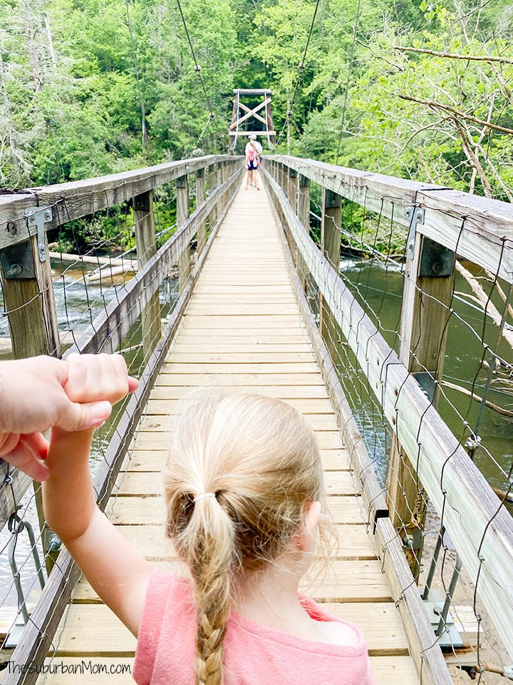Toccoa Swinging Bridge Family Hike Geogria