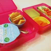 Sistema Lunch Cube Meets Easy Lunch Boxes Mini-Dippers