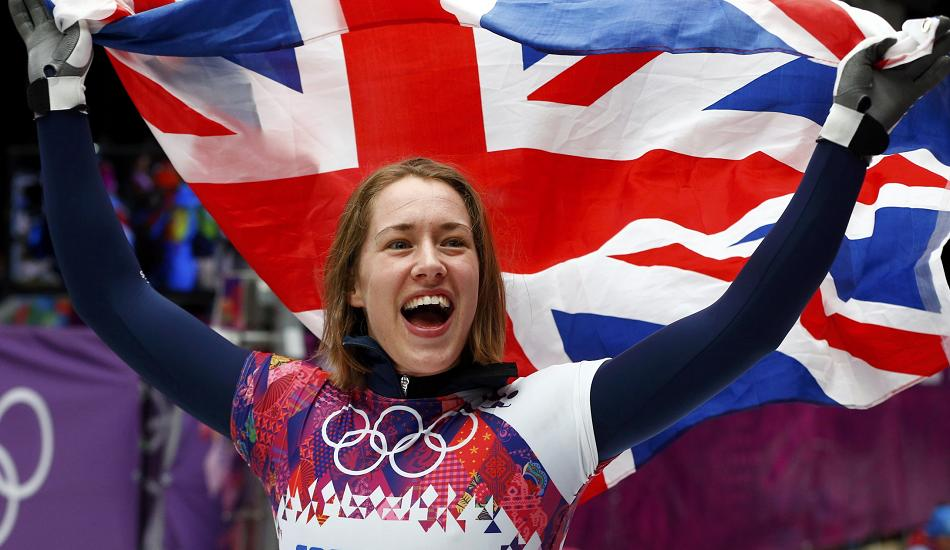 Lizzy Yarnold won the skeleton gold medal at the Sochi Winter Olympics