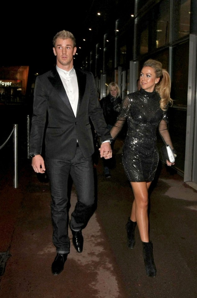 Joe Hart and his wife Kimberly Crew head out together