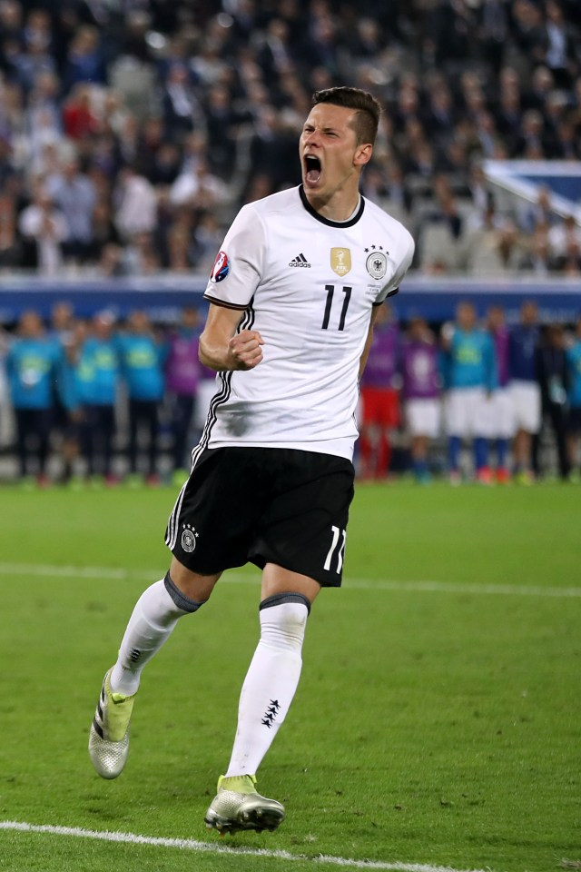 Julian Draxler is currently on international duty with Germany and heads into semi-final against France tonight