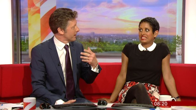 Naga is known for being on BBC Breakfast