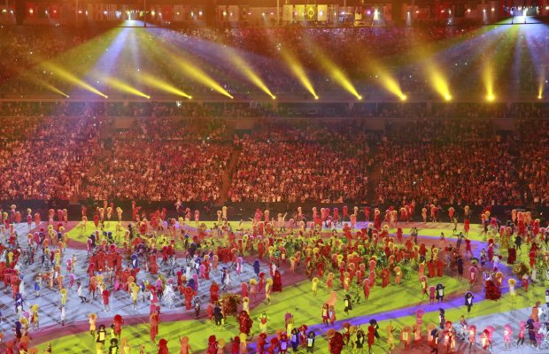 The opening ceremony explained and paid homage to the history of Brazil