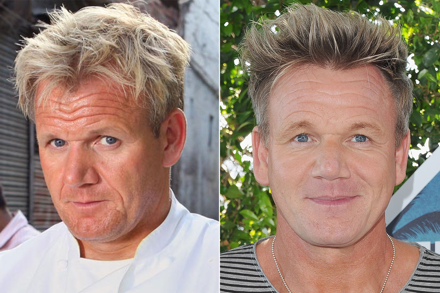 Image result for Gordon Ramsay with and with out make up