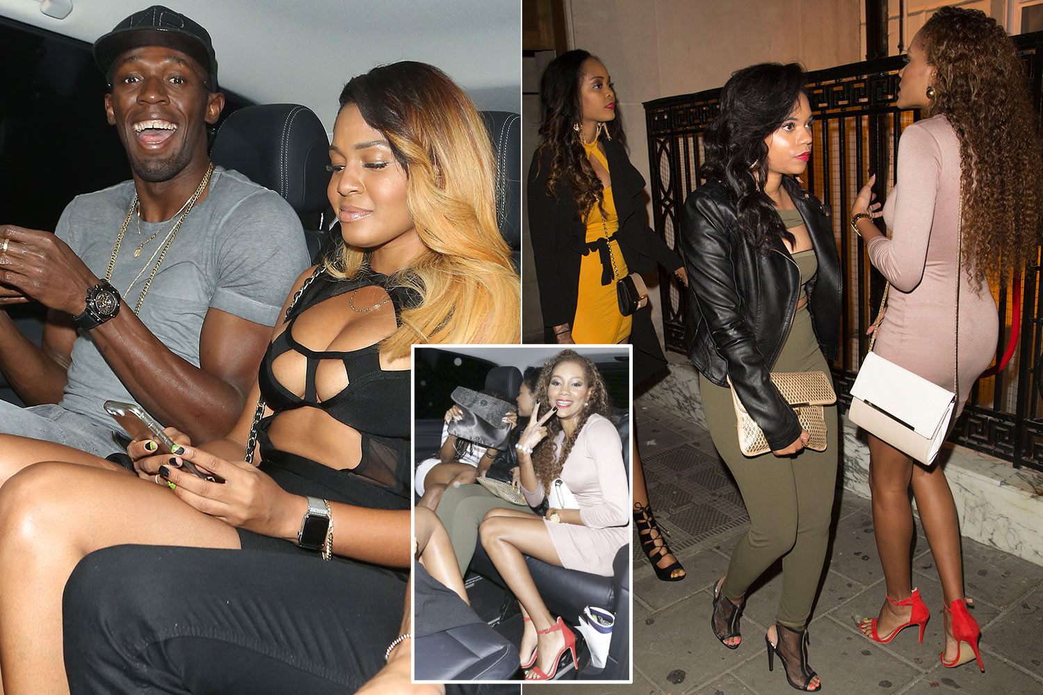 Usain Bolt pictured partying with busty women at Mayfair nightclub Tape Club